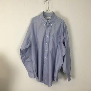 Brooks brothers mens blue dress shirt 17-35